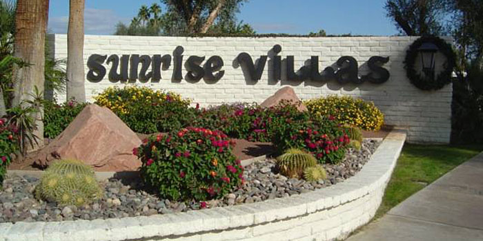 Palm Springs Sunrise Villas - Low HOAs, fee simple land