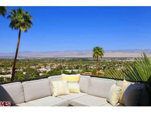 Stunning private hillside Palm Springs mid-century modern condo for sale