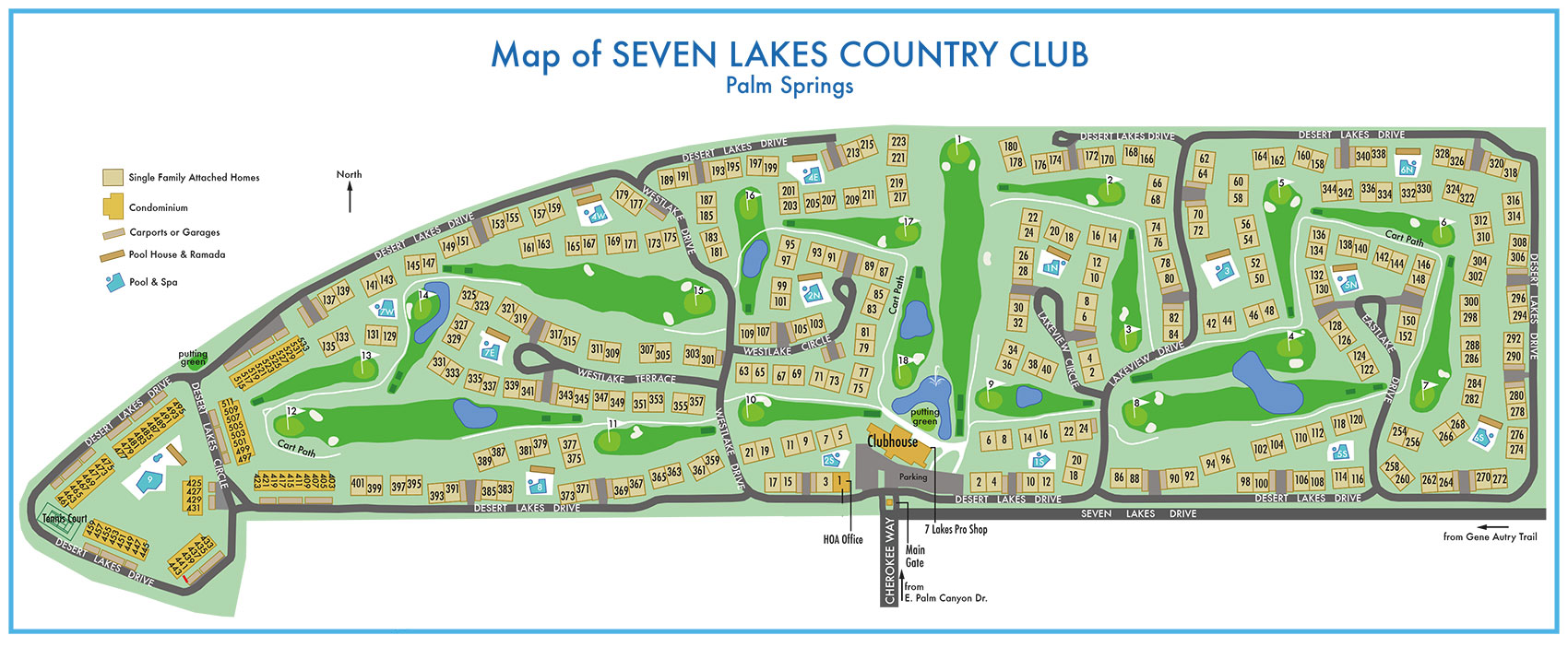 Seven Lakes Country Club  Greater Palm Springs condos