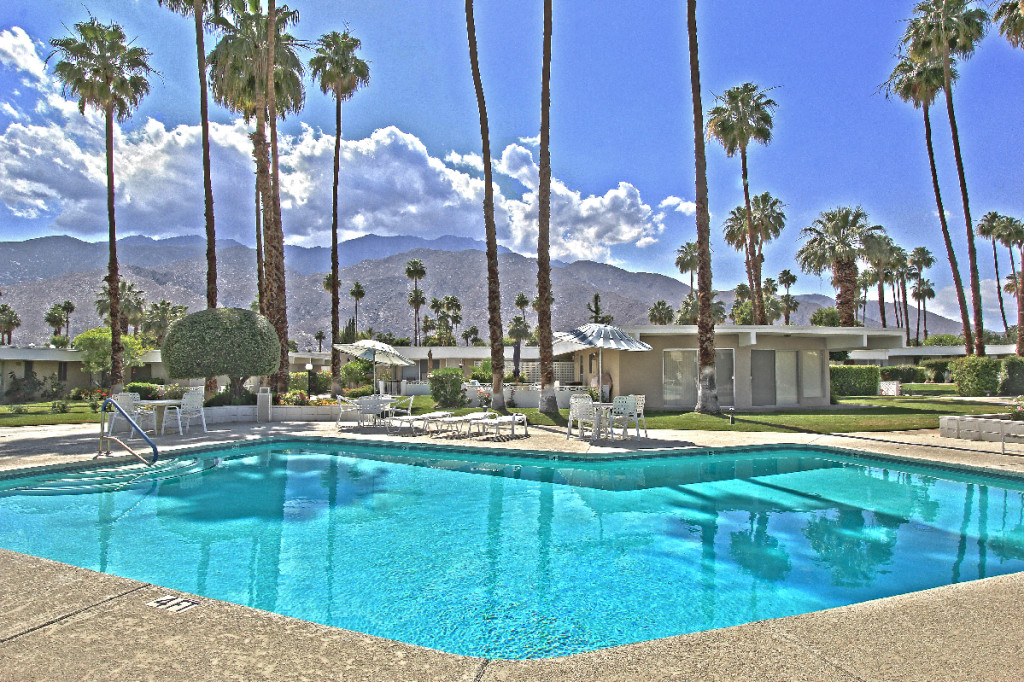 Amazing views from the Firebird Estates pool in Palm Springs, CA