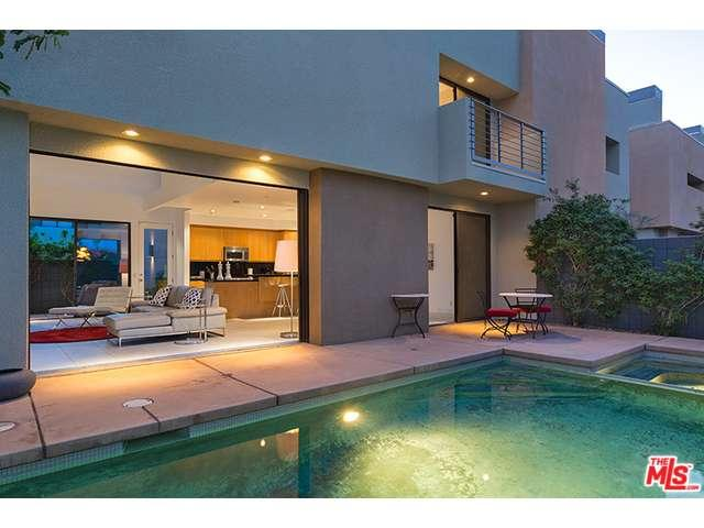 Condo with a private pool at the 48@Baristo complex in Palm Springs