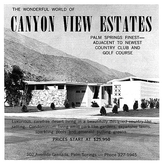 Original vintage photographic ads of Canyon View Estates