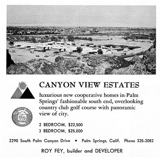 Original vintage ads of Canyon View Estates