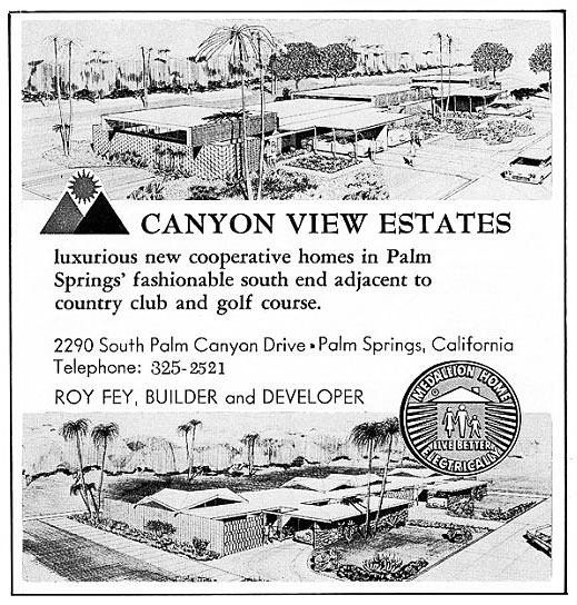 Original vintage ads for Canyon View Estates