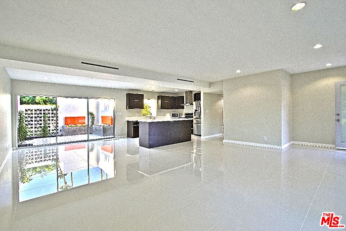 Large floor plan of a garden villas east condo for sale in Palm Springs