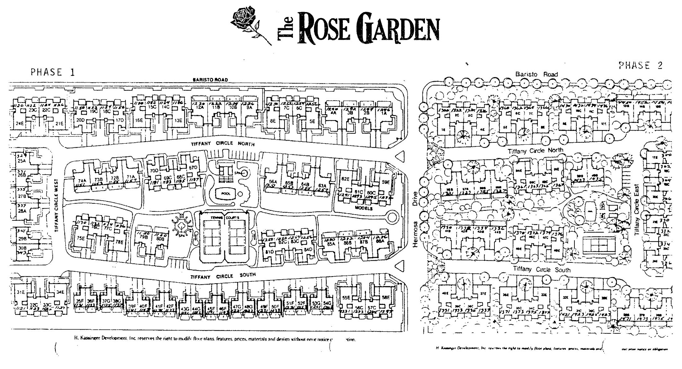 palm springs rose garden community map - Rosa Gardens Apartments Palm Springs Ca