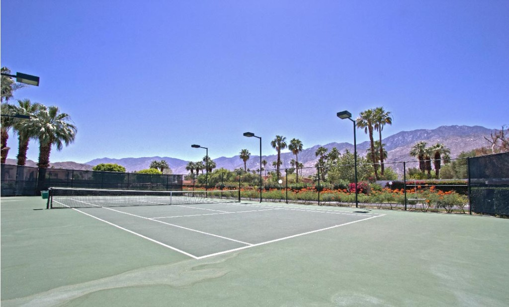 La Palme, Palm Springs, CA, tennis court
