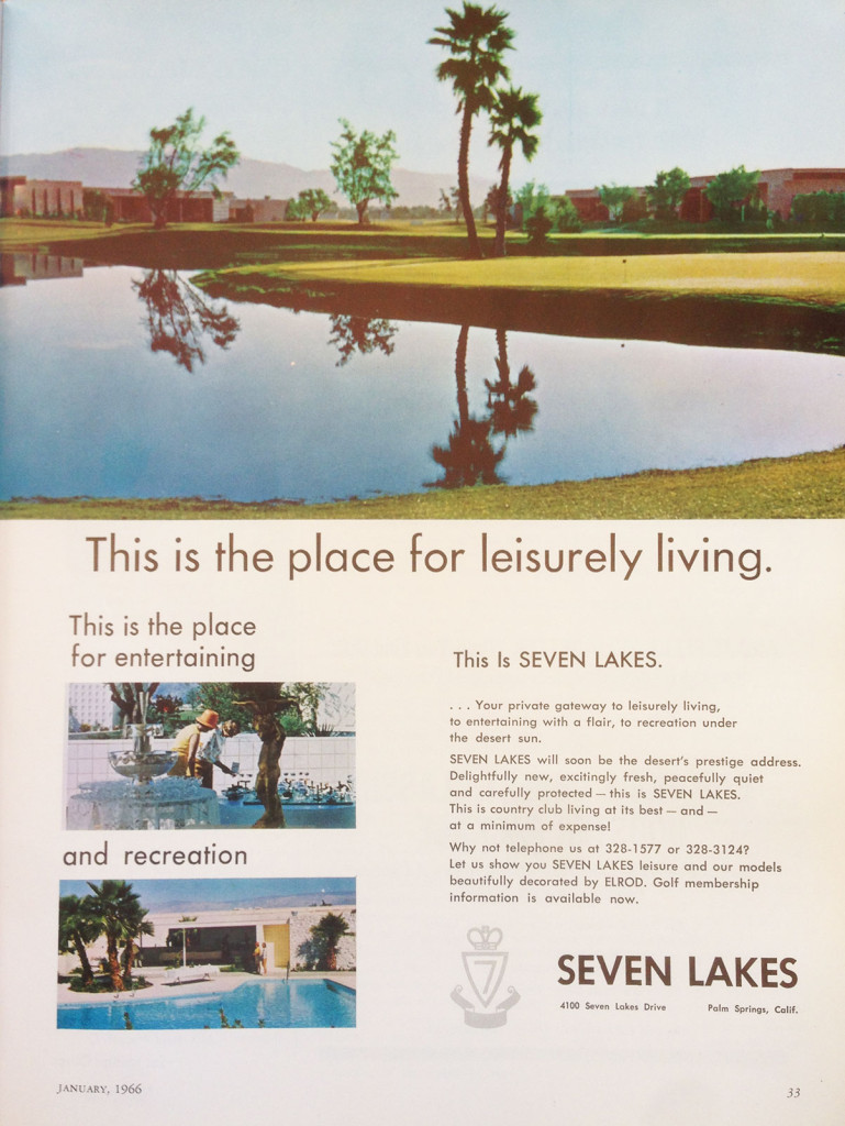 Seven Lakes Country Club Vintage Ad