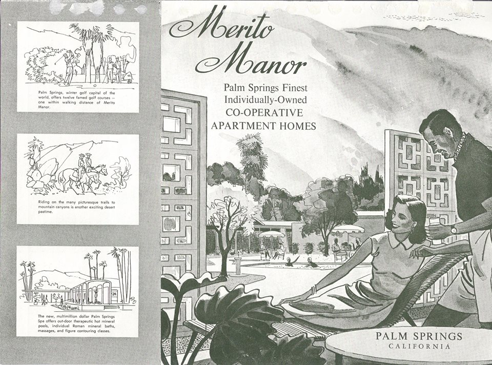 Merito Manor, Palm Springs, vintage real estate ads