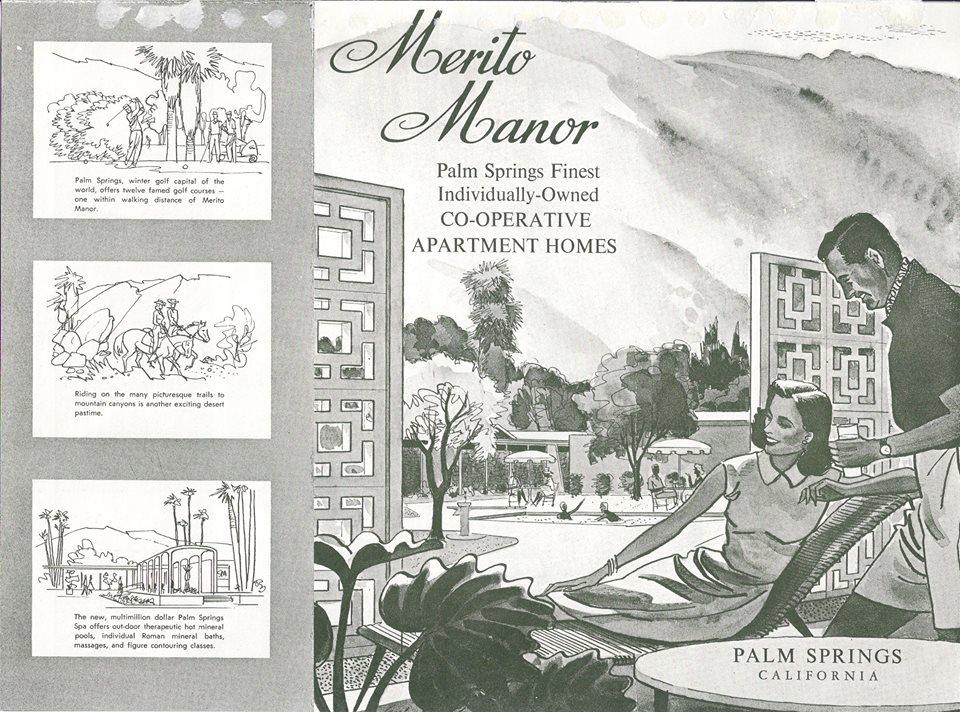 Merito Manor, Palm Springs, vintage real estate ads