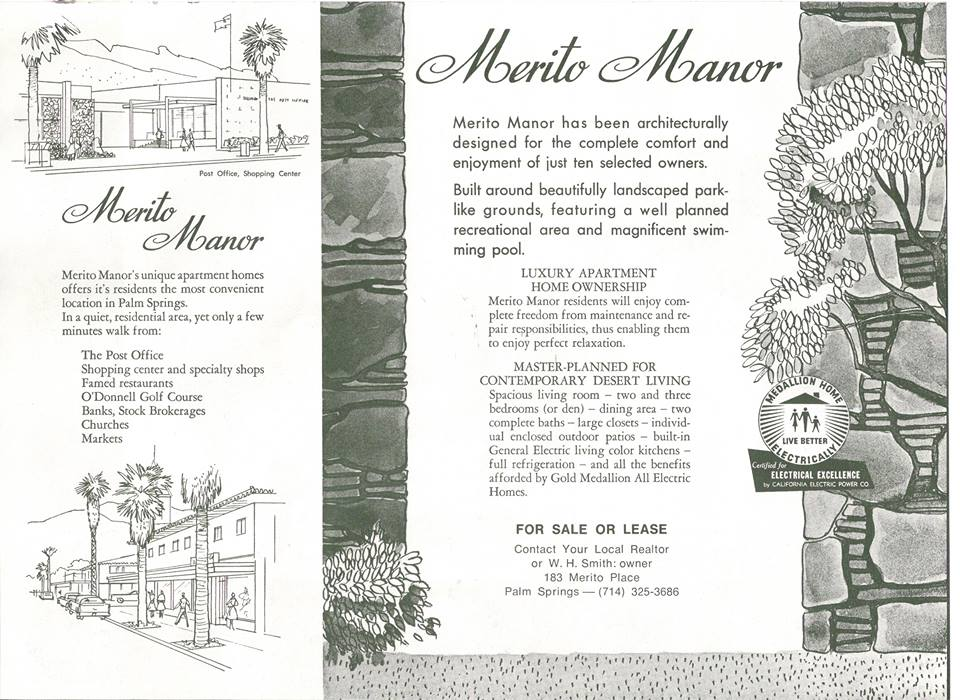 Palm Springs' Merito Manor vintage real estate ads