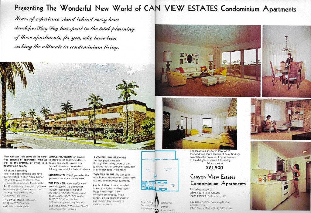 Canyon View Condos vintage advertising