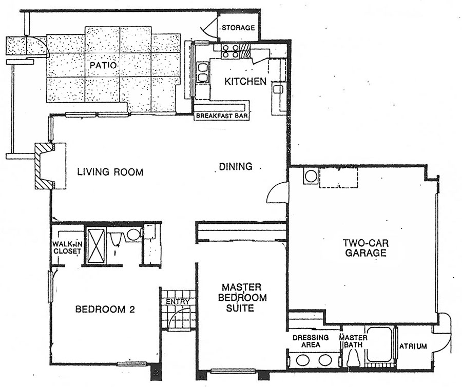 Floor plan for plan F at the canyon sands