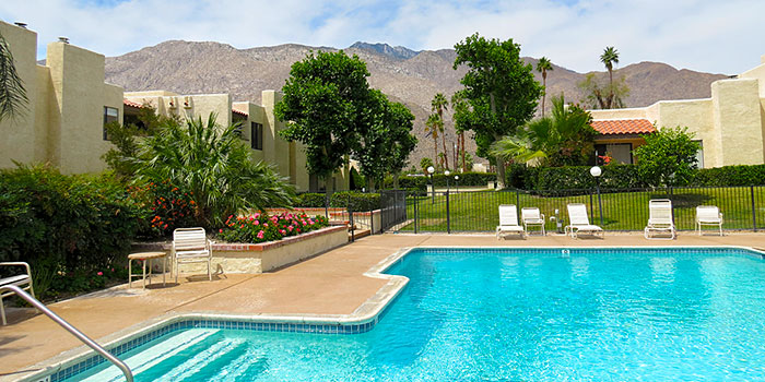 Swimming pool at the St Tropez Villas, Palm Springs