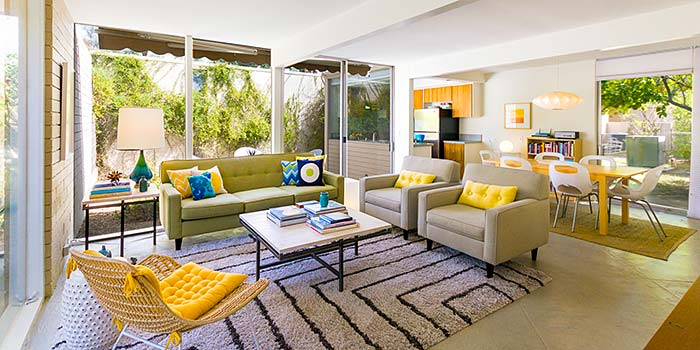 Turnkey furnished unit at the racquet club garden villas for Palm springs modern furniture