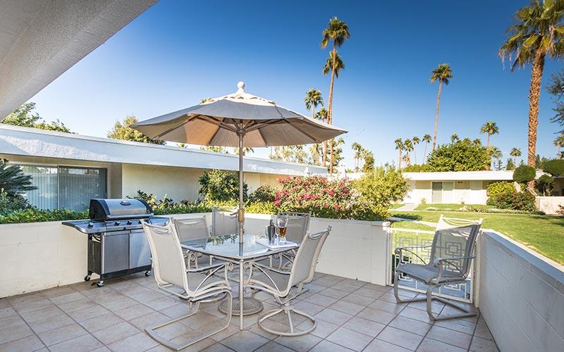 Unit 19, private patio at Villa Riviera