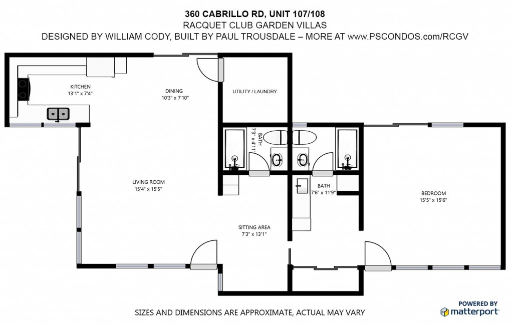 Racquet Club Garden Villas floor plan